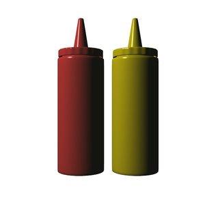 ketchup mustard 3d model