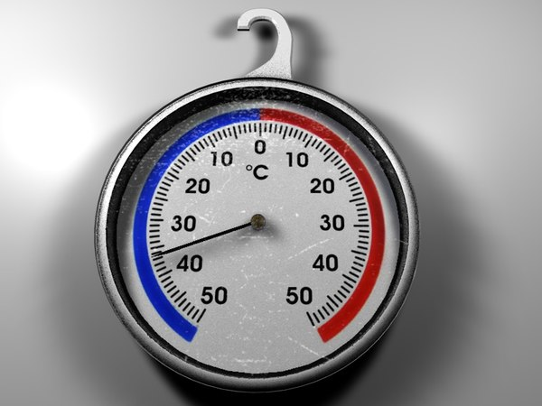 thermometer fridge temperature 3d model