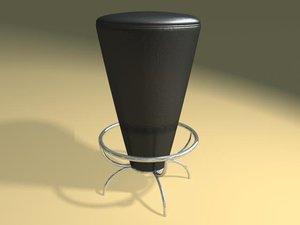 bongo bar stool 3d dxf