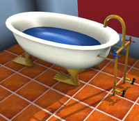 bathtub bath tub 3d model