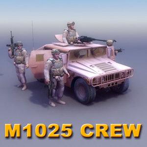 hmmwv crew 3d 3ds