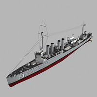 3d world war uss wickes