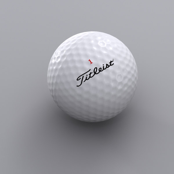 3ds max lower golf ball