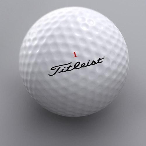 golf ball 2 3d model