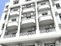 hotel building architecture 3d max