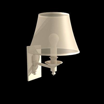 3d bedroom lamp model