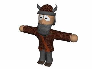 free 3ds model viking human