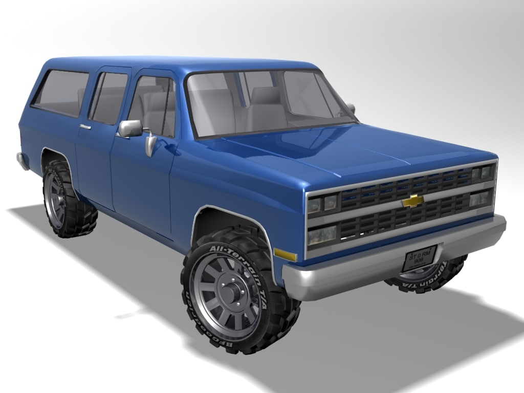 old chevrolet suburban 3d model