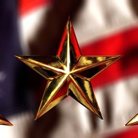3d star military gold model