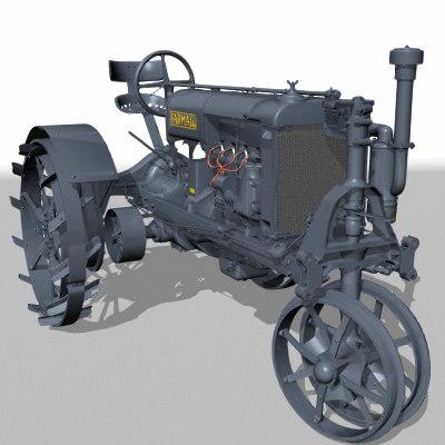 farmall tractor 3d lwo