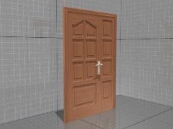 3d classic wooden door