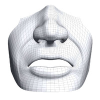3d model mouth nose