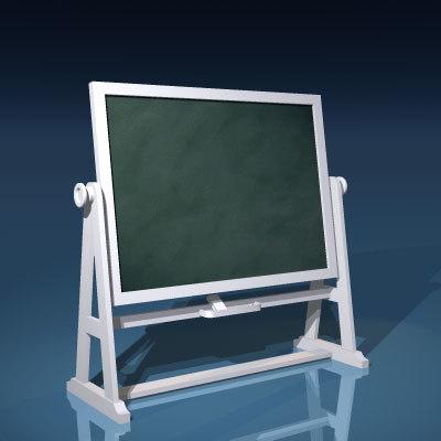 board blackboard school 3d model