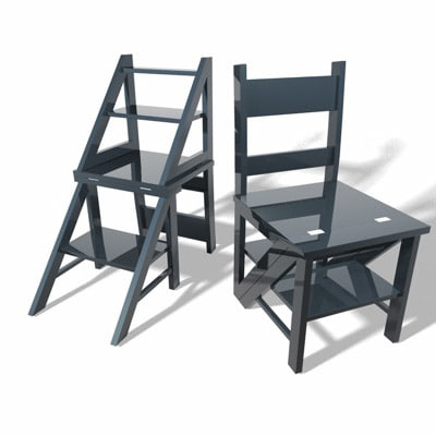 3ds library chair ladder