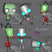 invader zim cartoon 3d gmax