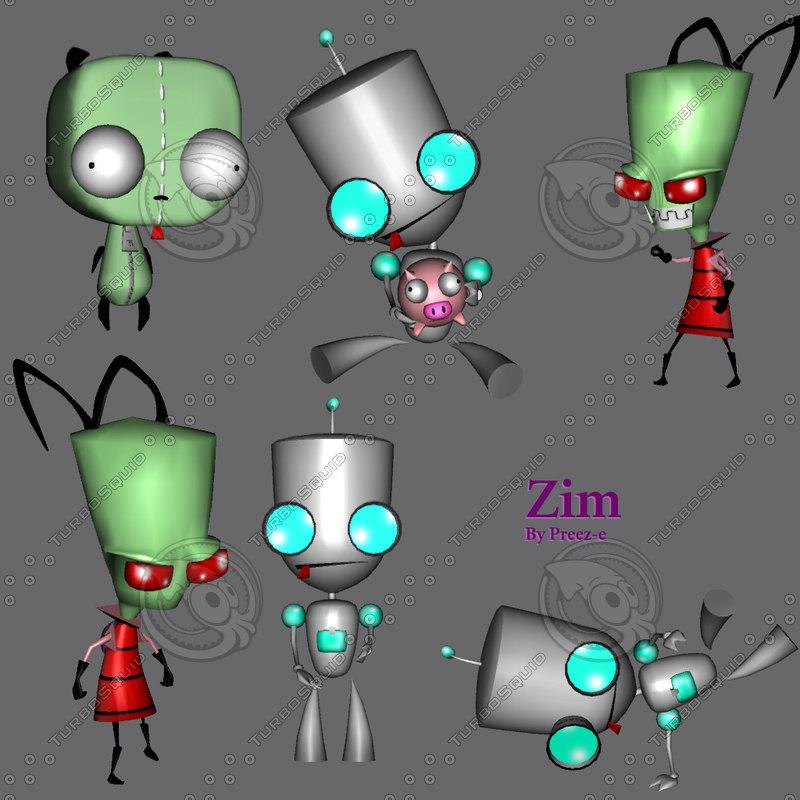 invader zim cartoon 3d gmax