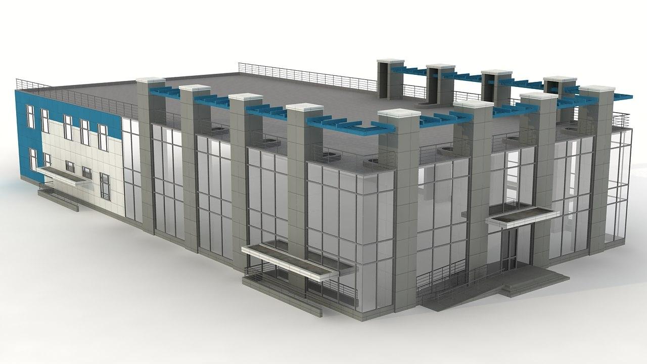 3d boiler-house house