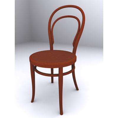 chair secession 3d max