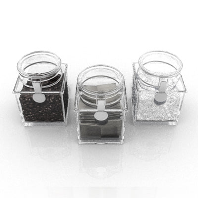 3d tea coffee jars