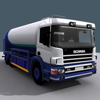 3d model milk tanker