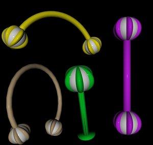 poser body jewelry beach ball