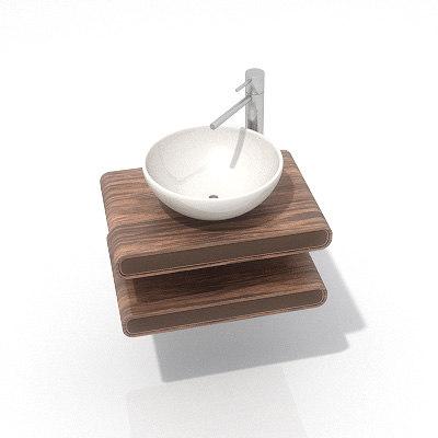 3d model toilet sink
