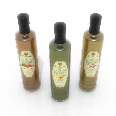 3d bottles olive oil