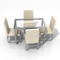 dining table chair 3d lwo