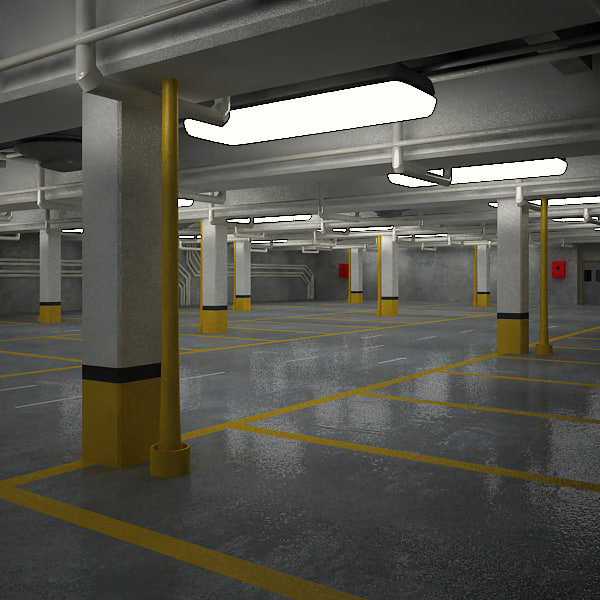 3dsmax underground parking