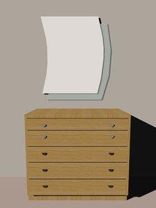 3d dresser cabinet
