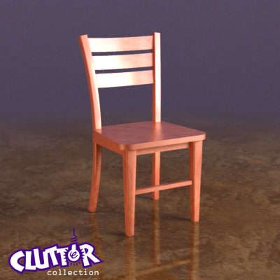 3d model chair coffee shops