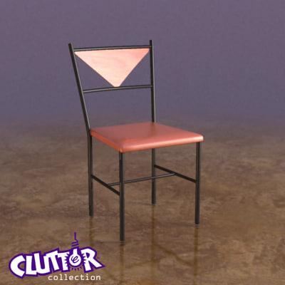 3d model chair clutterfurniture clutter