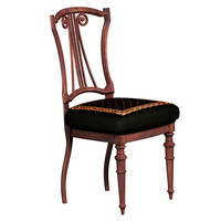 3d antique desk chair