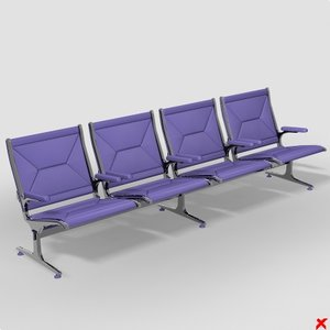 airport chair 3d max