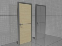 3d glass wooden doors model