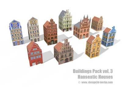 3d model building hanseatic