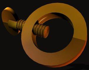 thumb screw thumbscrew 3d 3ds