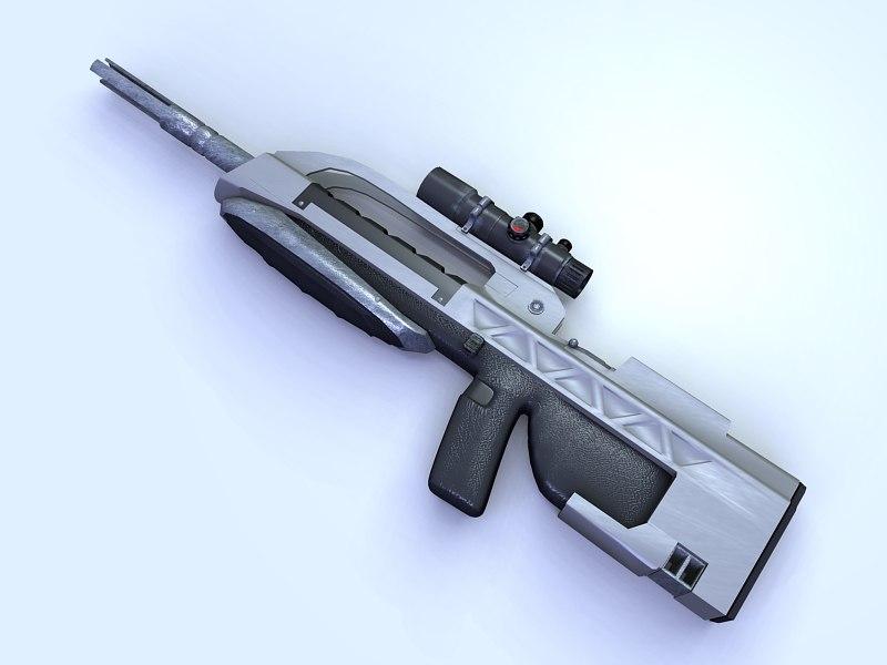 3d battle rifle model