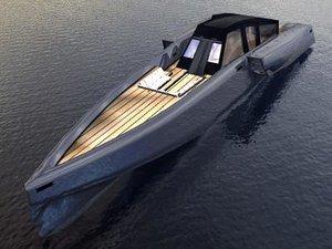 speed boat wally 3d model