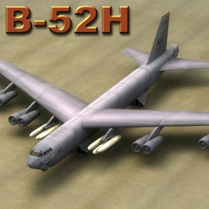 3d model b52h aircraft