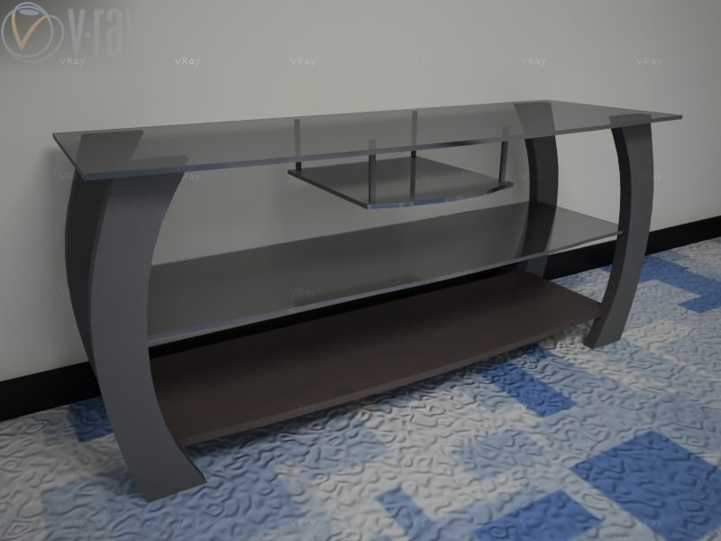 3ds max table hi-fi tv lcd