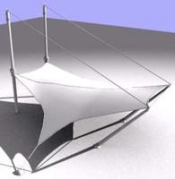 membrane structure 3d model