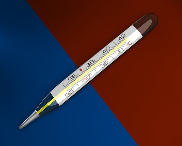 3ds max medical thermometer