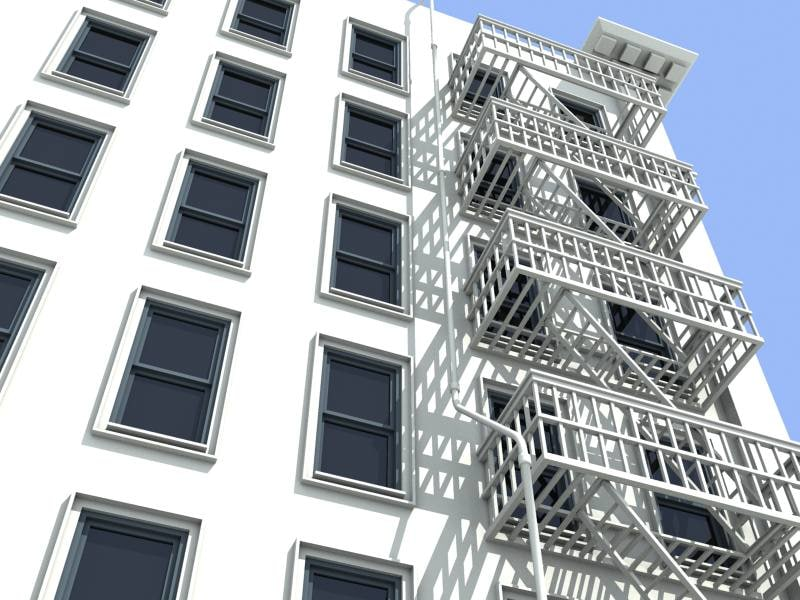 3d model bank building structure