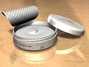 cream package 3d model
