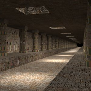 3d model egyptian corridor ancient egypt