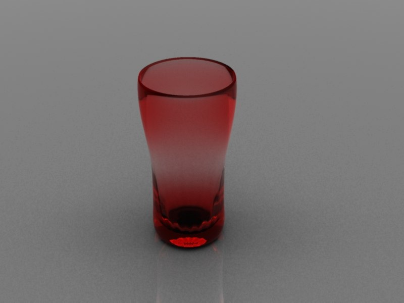3d glass tera model