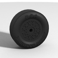 boy pinewood derby wheel 3d model