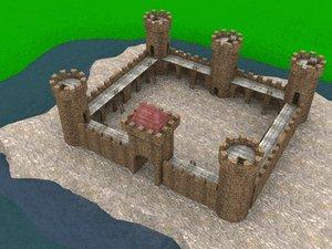 3d castle walls customized