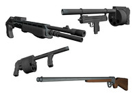 3d model shotguns franchi spas 12